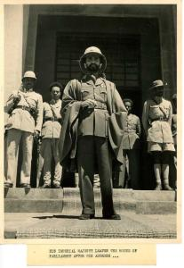 Rumor had it that Selassie and Marcus Garvey had 'beef' at one time because Garvey felt that Selassie had turned his back on his duty to lead us back to our home in Ethiopia by selling out his nation to the Italians.