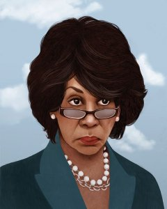 Maxine Waters - Illustrated By Mercedes deBellard