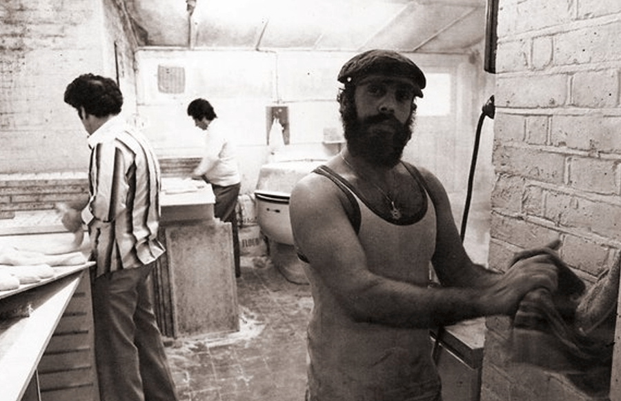 "A photo from the bakery kitchen ""back in the day"""