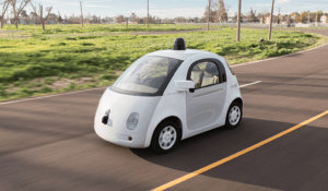 A rendering of Google's self-driving vehicle prototype. (Google)