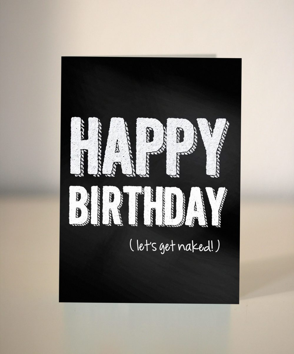 Funny Birthday Card Lets Get Naked For Boyfriend