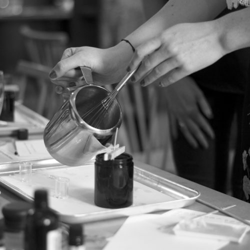 Lucy Heale - candle_making_martello_hall_bw