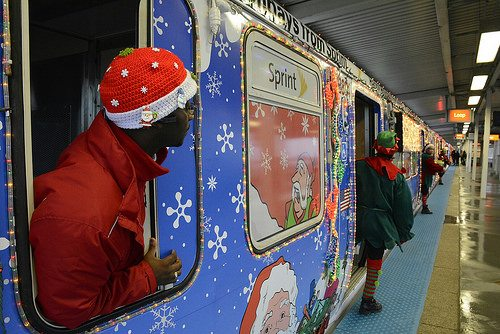 make your daily commute just a little more festive