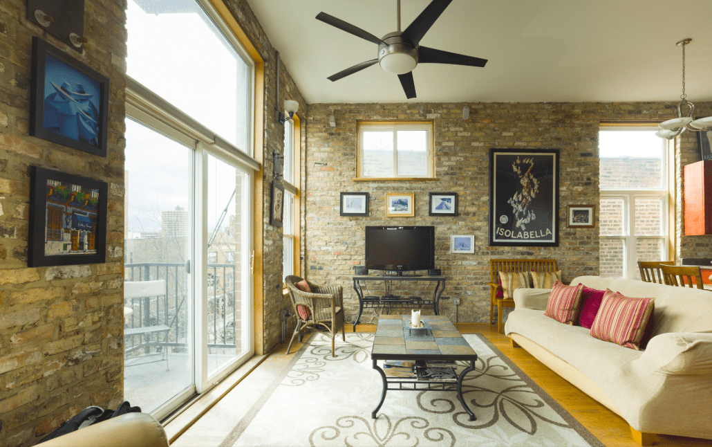 Lounge in a Luxury Loft near Wrigley Field Lofts for Rent in Chicago Illinois United States