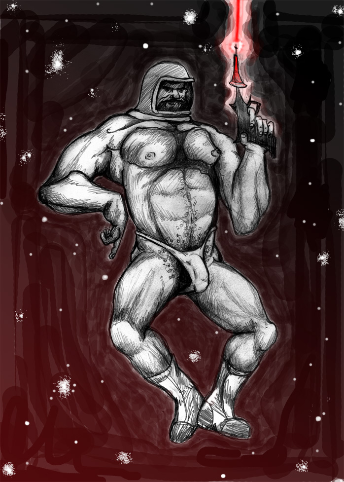 Spaceman in a Speedo