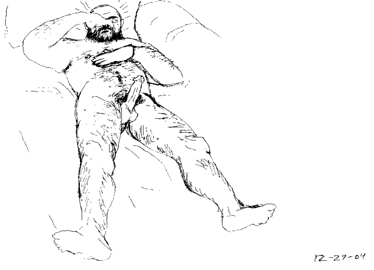 Naked man sketch