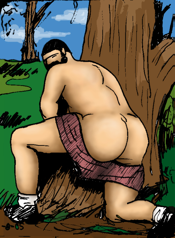 Forest butt bear