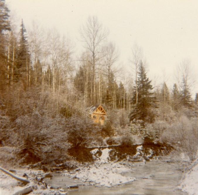 my cabin in winter