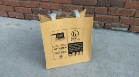 Urban Neighbors washable paper bag, back