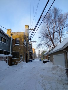 The alley Monday