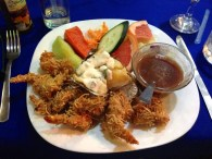 Best meal of the trip (maybe): Coconut shrimp