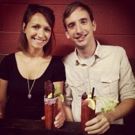 Bloody Marys with homemade jerky at Tasty n' Sons