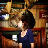Kissing the moose at Sleder's