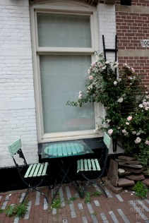 it seems to be pretty common in amsterdam to put chairs and benches in front of the house to enjoy public space
