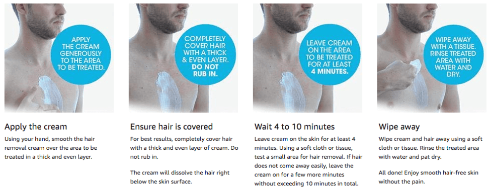 Alternative method: Hair removal cream