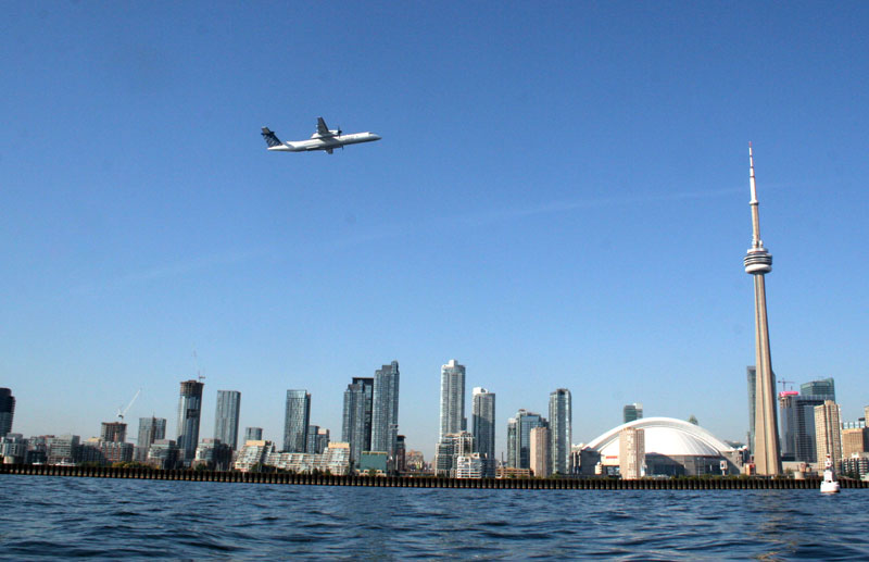 Porter Airlines uses the larger jets taking off from the airport.