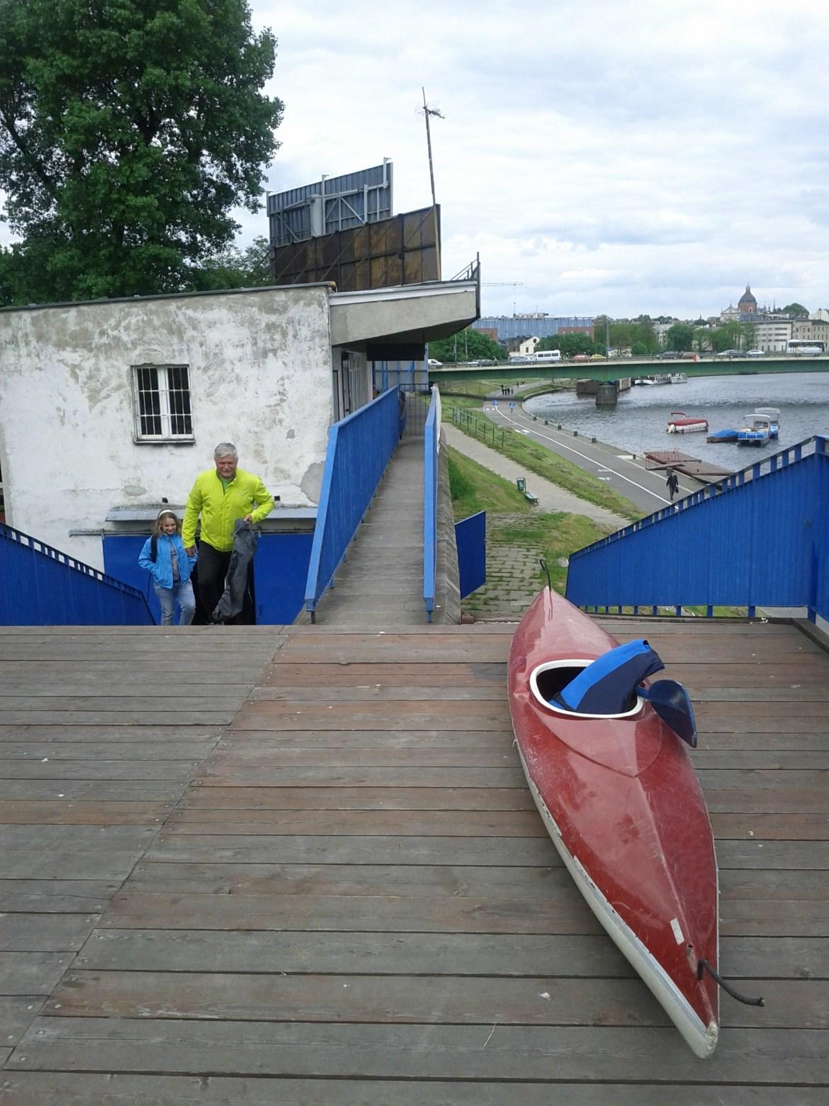 Kayak rental on the Wisla River in Krakow, Poland