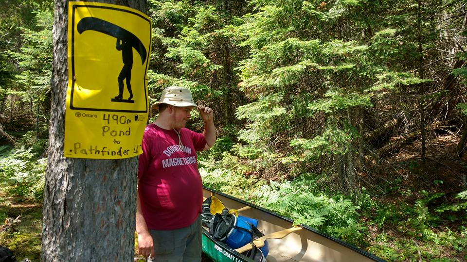 Pond to Pathfinder Lake portage in Algonquin Park
