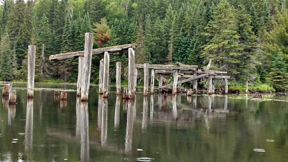 bridge ruins on Potter's creek in Algonquin Park