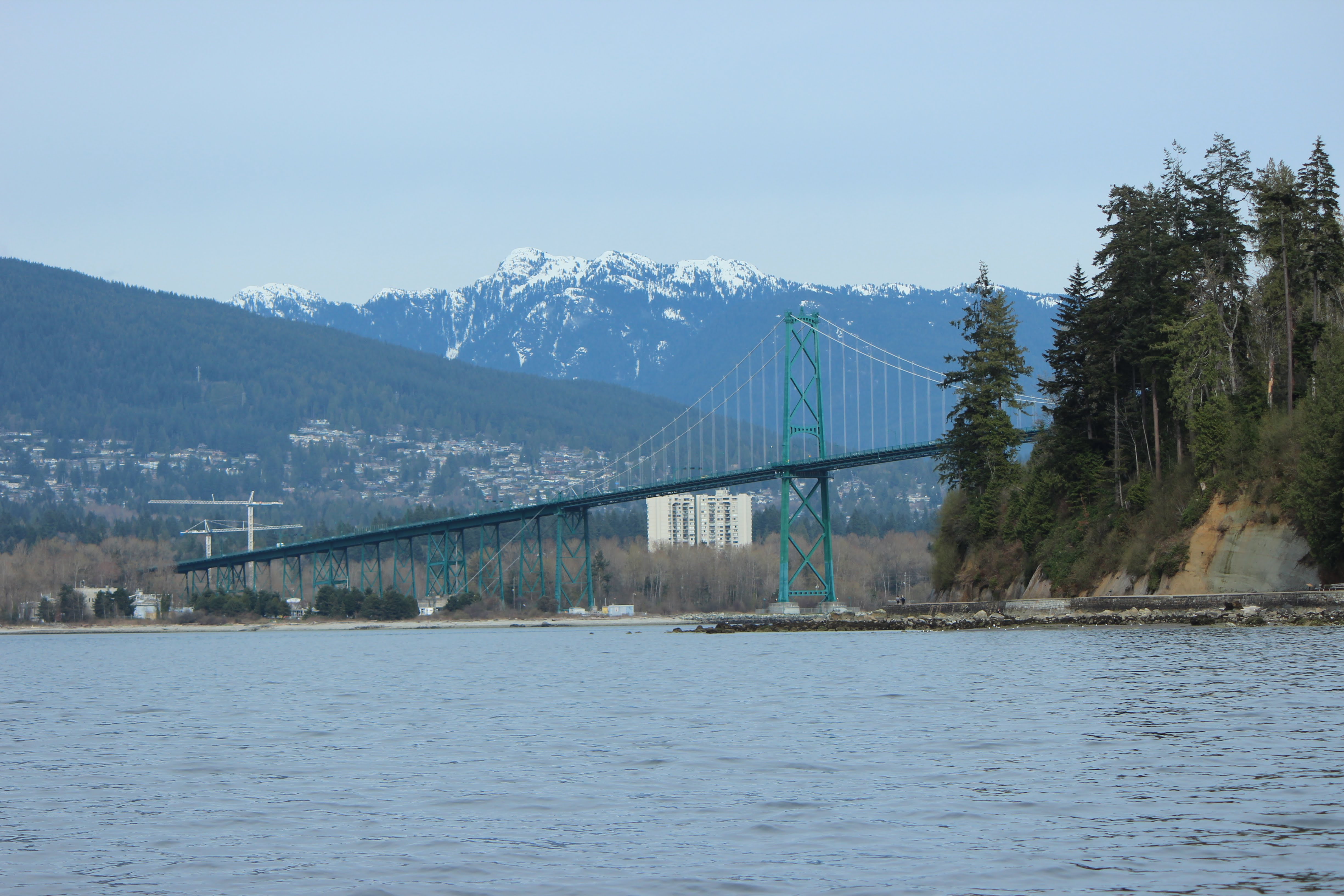 Lion's Gate Bridge and mountains