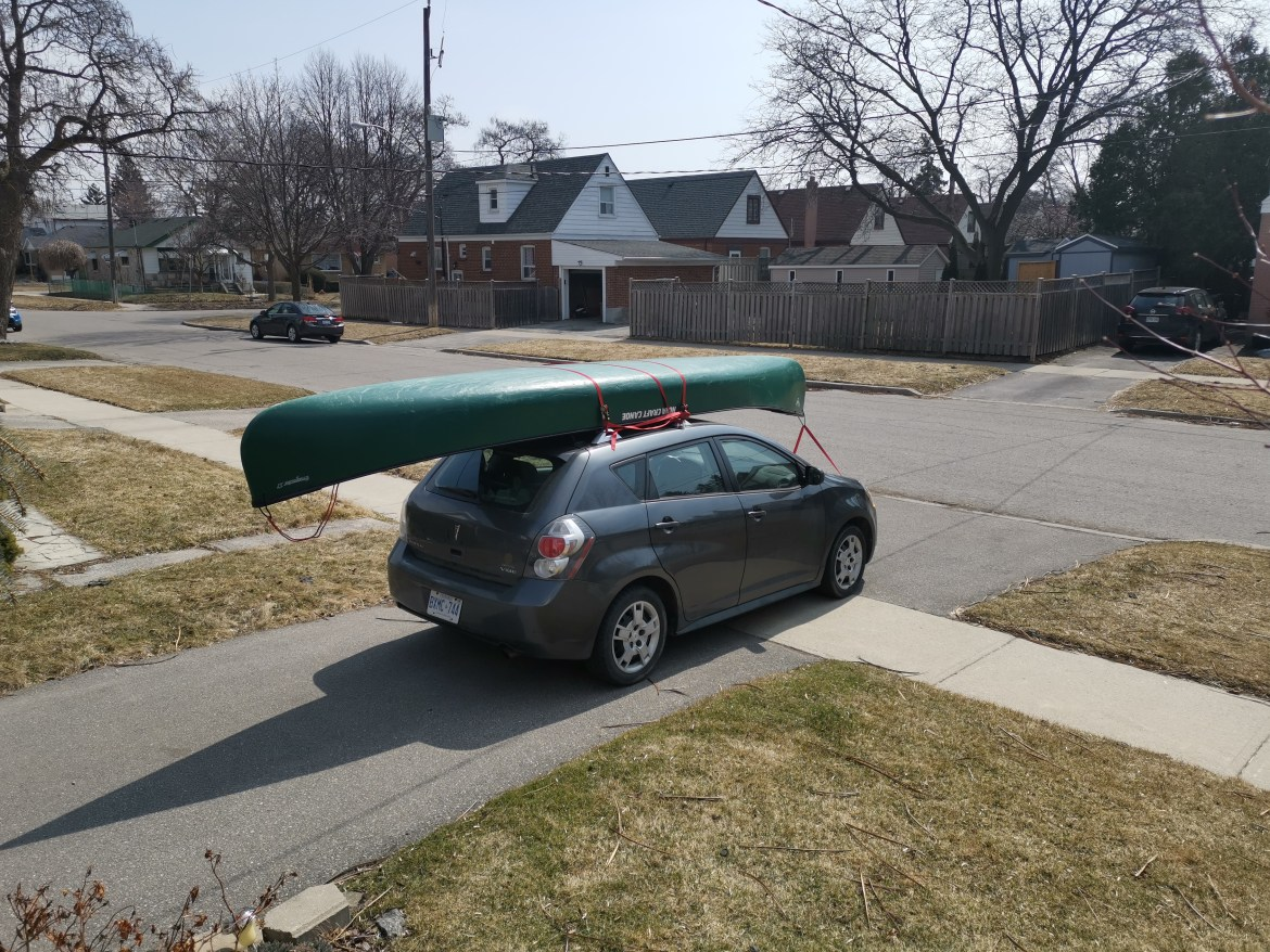 Ready to go canoeing on the Humber River in Toronto