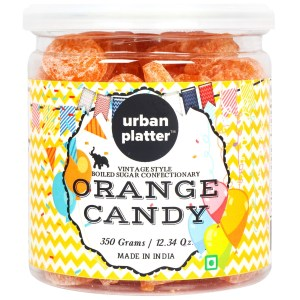 Urban Platter Orange Candy, 350g [Vintage-style Boiled Sugar Confectionery]