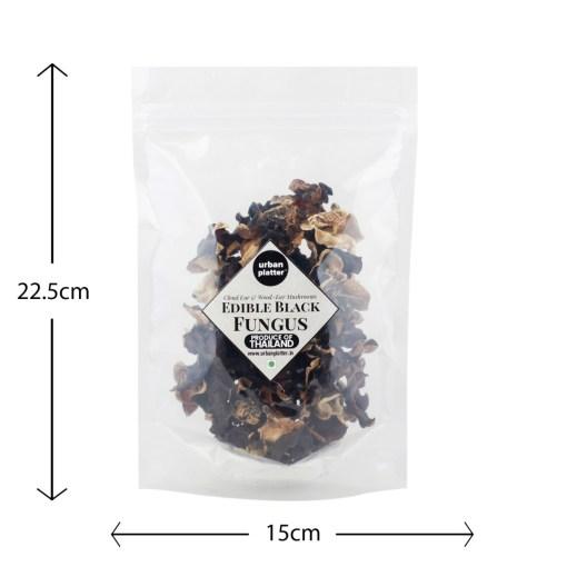 Urban Platter Edible Black Fungus (Cloud Ear and Wood Ear Mushrooms), 50g