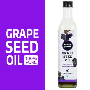 Urban Platter Pure Grape Seed Oil, 500ml / 17fl. oz [Cold Pressed, Extra Virgin & Rich In Anti-oxidant]