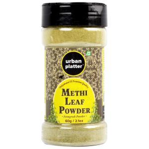 Urban Platter Methi Leaf Powder Shaker Jar, 60g / 2.1oz [Dehydrated, Fenugreek Powder, Aromatic]