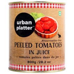 Urban Platter Peeled Tomato in Juice, 800g / 28.2oz [Tomates pelles dans le jus, Preservative Free]
