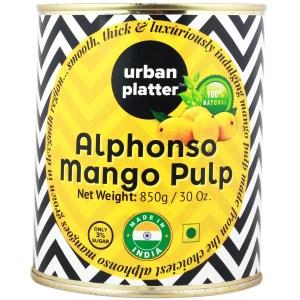 Urban Platter Pure Alphonso Mango Pulp, 850g