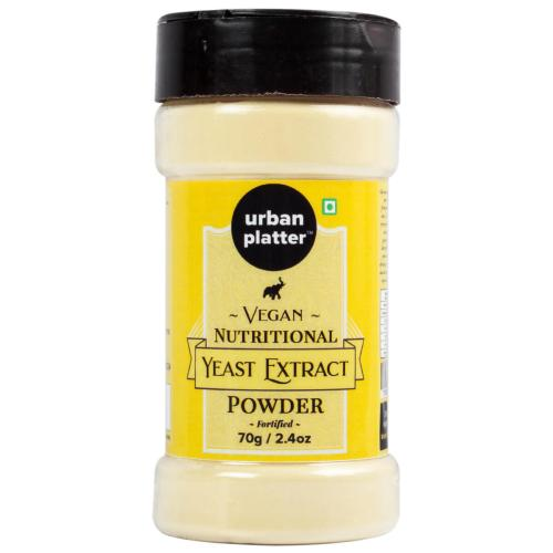 Urban Platter Yeast Extract Powder Shaker Jar, 70g / 2.5oz [Fortified, Cheesy Flavour, Vegan-friendly]