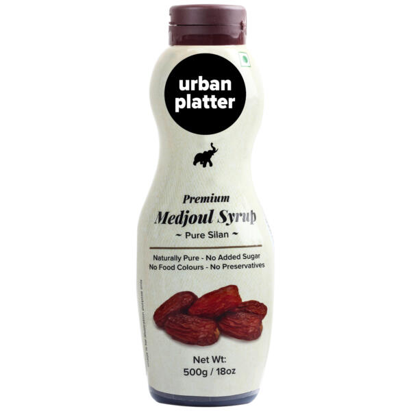 Urban Platter Premium Medjoul Date Syrup, Silan, 500g / 18oz [Naturally Pure & Premium]