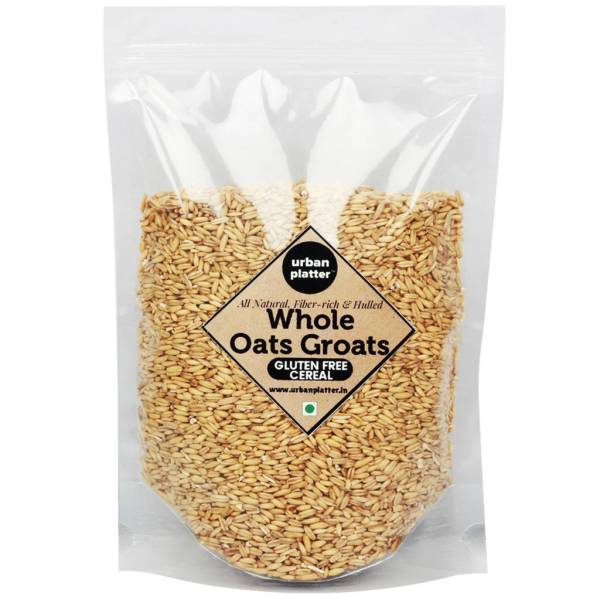 Urban Platter Whole Oats Groats, 900g [High-fibre, Gluten-free, Nutrients-rich]