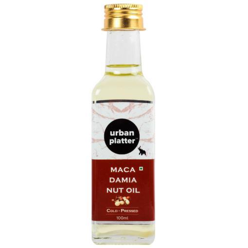 Urban Platter Cold-Pressed Macadamia Nut Oil, 100ml [Nutty Aroma, Nutrient Rich]