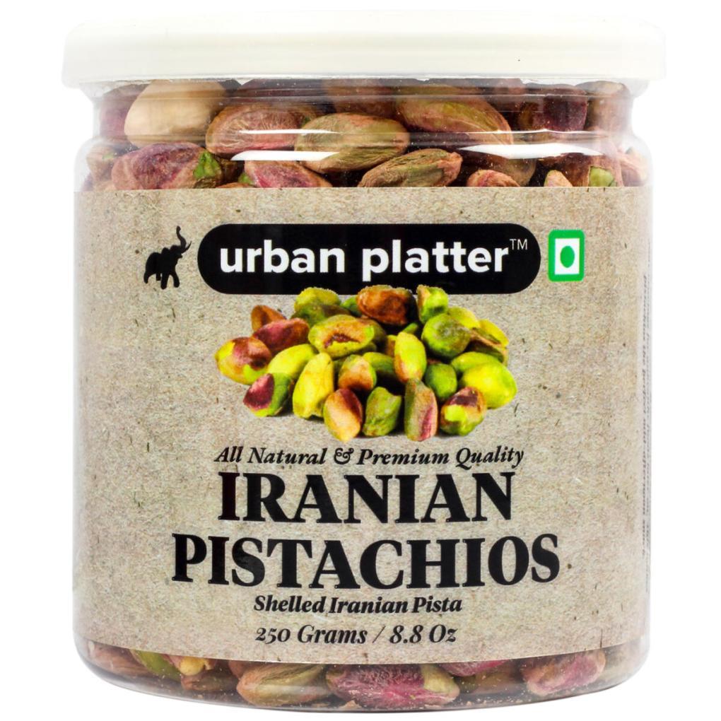 Urban Platter Whole Raw Shelled Pistachio (Pista), 250g