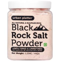 Urban Platter Black Rock Salt Powder, 1.25Kg [All Natural, Sulphur-Rich, Kala Namak]