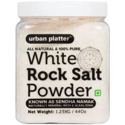 Urban Platter White Rock Salt Powder, 1.25Kg [All Natural & 100% Pure Sendha Namak]