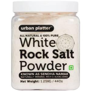 Urban Platter White Rock Salt Powder, 1.25Kg [All Natural & 100% Pure Sendha Namak]