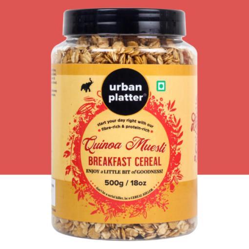 Urban Platter Quinoa Muesli, 500g [All Natural & Preservative-Free]