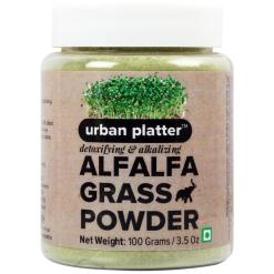 Urban Platter Alfalfa Grass Powder, 100g [Premium Quality,Father of all Foods, High In Chlorophyll]
