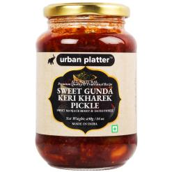 Urban Platter Gunda Keri Kharek Pickle, 450g / 16oz [Manjack Berry and Dates Pickle, Traditional Recipe]
