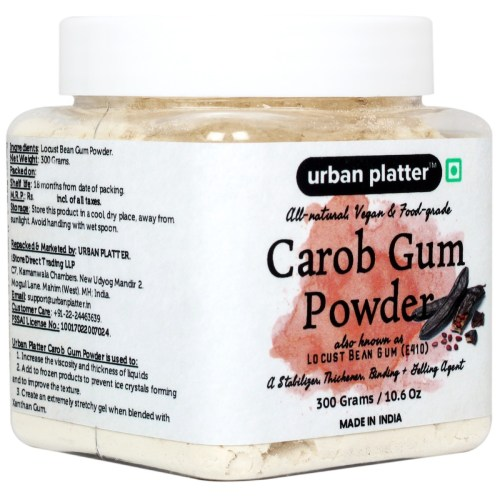 Urban Platter Carob Gum Powder, 300g [Locust Bean Gum, All Natural, Vegan & Food-Grade]