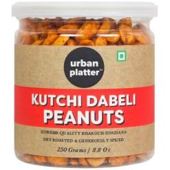 Urban Platter Kutchi Dabeli Peanuts, 250g / 8.82oz [Supreme Quality Bharuch Singdana, Dry Roasted & Generously Spiced]