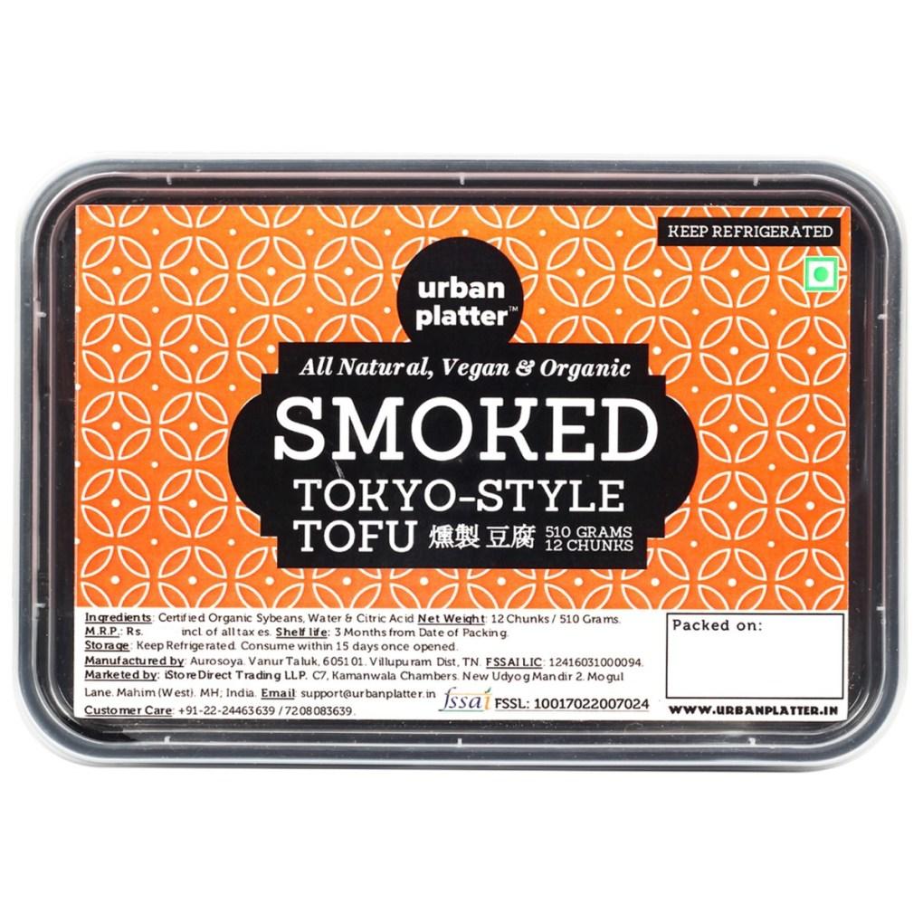 Urban Platter Organic Tokyo-Style Smoked Tofu, 510g / 12 Cubes [All Natural, Vegan]