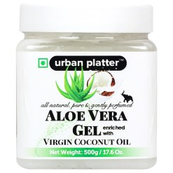Urban Platter Aloe Vera Gel Enriched With Virgin Coconut Oil, 500g