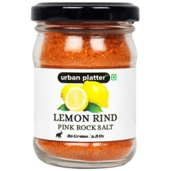 Urban Platter Lemon Rind Pink Rock Salt, 80g [Citrusy, Zesty and All-natural]