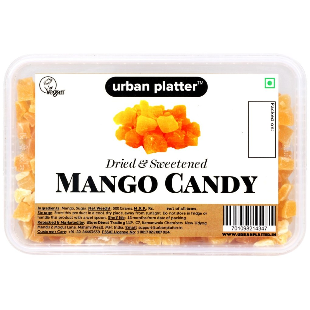 Urban Platter Dried Mango Candy, 500g Tray