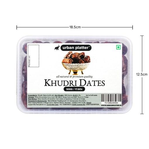 Urban Platter Khudri Dates, 500g [All-natural, Tender, Grown in Madinah]