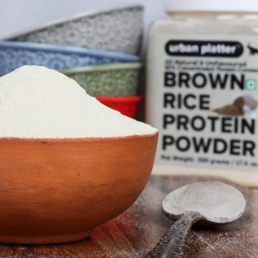 Urban Platter Brown Rice Protein Powder, 500g [All Natural & Unflavored 80% Concentrated Protein Content]